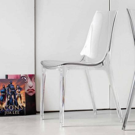 Moderní designová židle, kompletně z polykarbonátu - Gilda