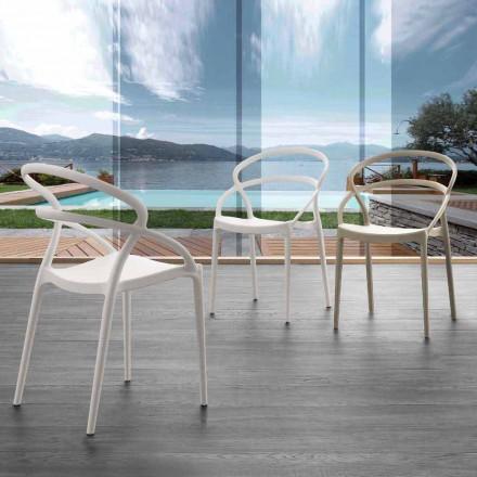 Moderní designová židle Pavia v polypropylenu, různé barvy