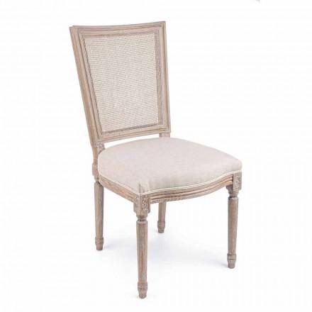 Klasická designová židle s dřevěnou strukturou 2 kusy Homemotion - Murea