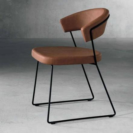 Designová židle z kovu a tkaniny vyrobená v Itálii Formia