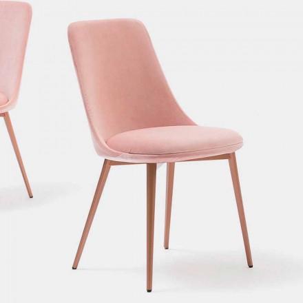 Designová židle z tkaniny a kovu Made in Italy - Itala