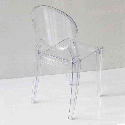 Moderní designová židle z polykarbonátu, ve 2 barvách - Dalila