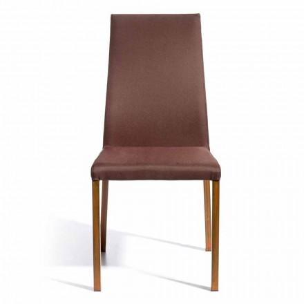 Designová židle pokrytá tkaninou Amalia, H96 cm, vyrobená v Itálii