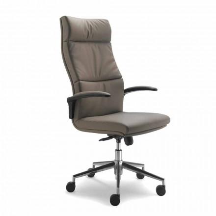 Směrová moderní design židle pravá hovězí kůže květ typ Edda
