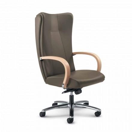 Výkonný židle pravá hovězí kůže moderní Ambra typ květina