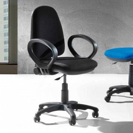 Moderní otočná kancelářská ergonomická židle z eko kůže nebo tkáně - Calogera