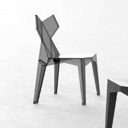 Venkovní skládací designová židle z polykarbonátu, 4 kusy - Kimono od společnosti Vondom