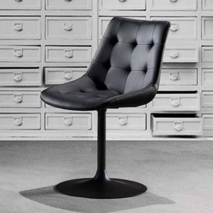 Otočná židle, eko-kožené sedadlo s všívanou prací - Aura