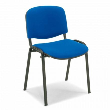 Čalouněná židle pro čekárnu s kovovou základnou - Carmela