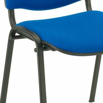 Polstrovaná židle pro čekárnu s moderní černou kovovou základnou - Carmela