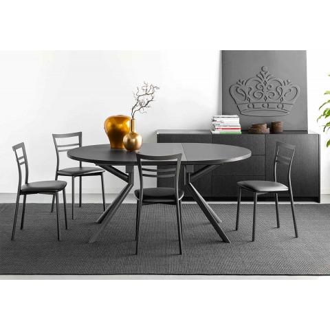 Čalouněná moderní designová kuchyňská židle vyrobená v Itálii - Go