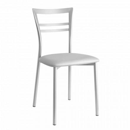 Čalouněná moderní designová kuchyňská židle vyrobená v Itálii 2 kusy - Go