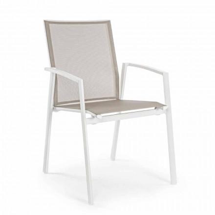 Stohovatelná venkovní židle Malovaný hliník, Homemotion, 4 kusy - Odelia