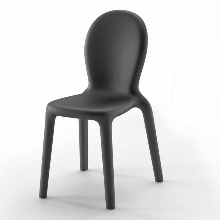 Stohovatelná židle z barevného polyethylenu vyrobená v Itálii, 2 kusy - Jamala