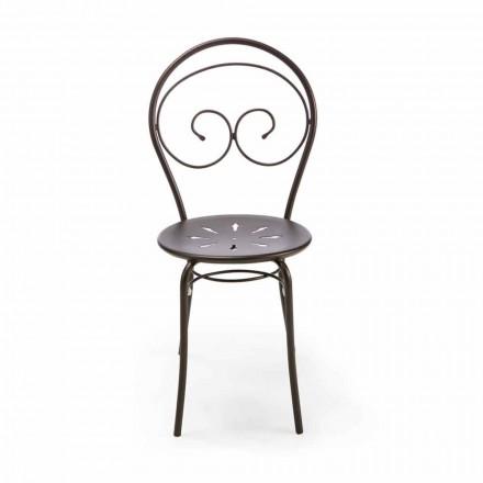 Stohovatelná venkovní židle z kovu Vyrobeno v Itálii, 2 kusy - autorita