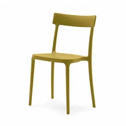 Vnitřní nebo venkovní židle z polypropylenu Vyrobeno v Itálii 4 kusy - Argo