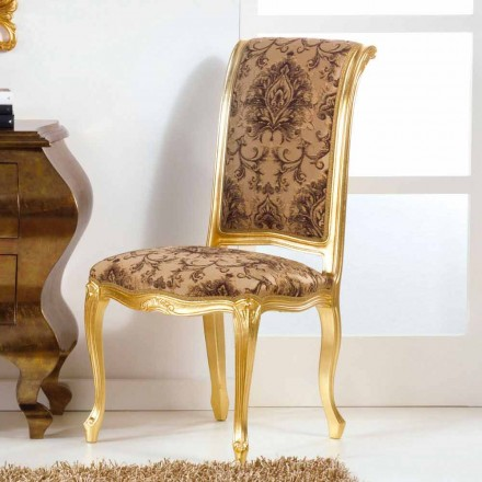 Dřevěná židle s klasickým stylem zlatem nohy Bellini
