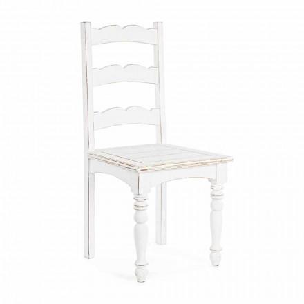 Homemotion Classic Design Masivní židle z mangového dřeva - Blanche