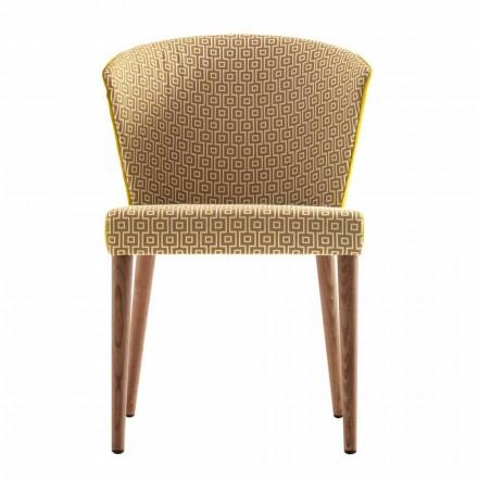 Moderní polstrované masivní dřevěné židle Grilli York vyrobené v Itálii