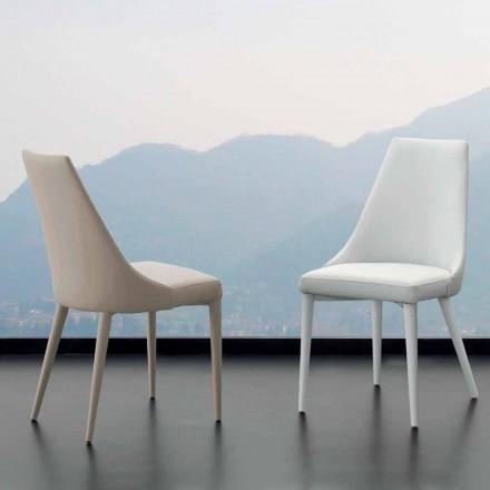 Kovová židle plně pokryta koženkou Nepitella