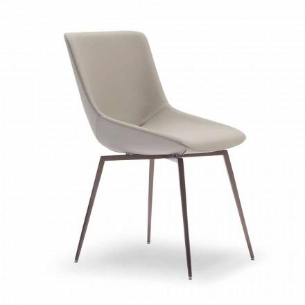 Moderní jídelní židle s kůží Made in Italy - Bonaldo Artika