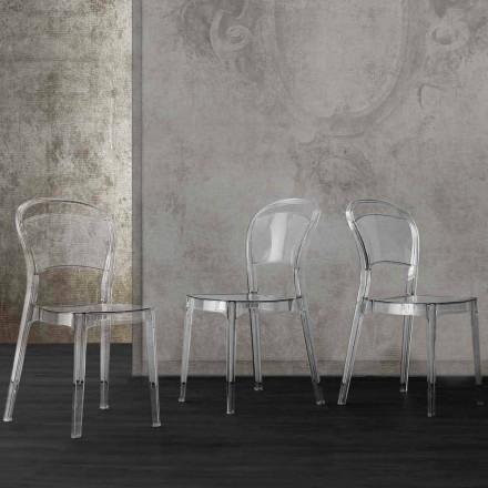 Průhledná polykarbonátová židle s moderním designem Ferrara