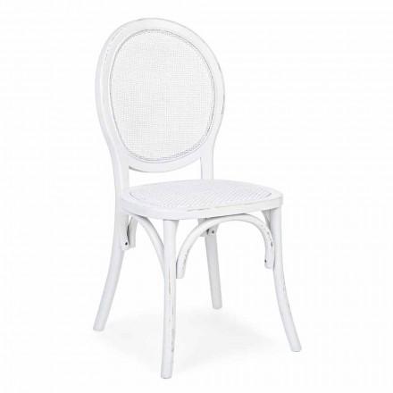 Židle Ratan a Elm Wood Classic Design Homemotion - Alfreda