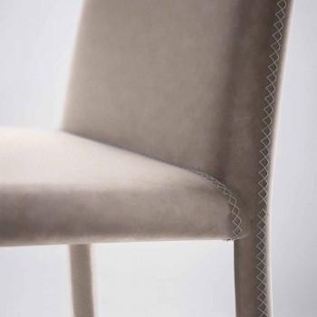 Moderní obývací křeslo z imitace kůže vyrobené v Itálii, Gazzola