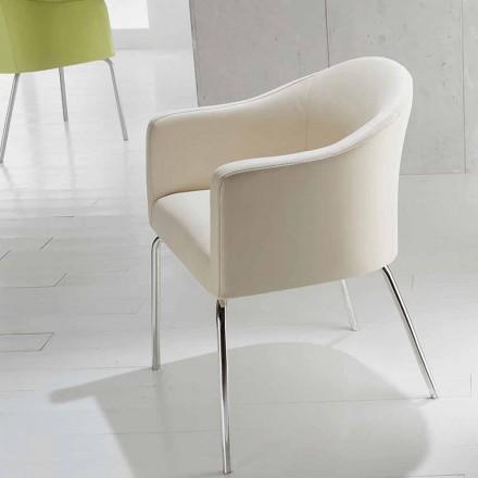 Moderní židle v umělé usně Měsíci