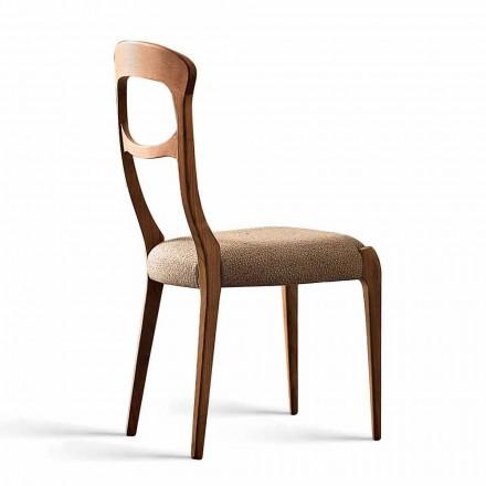 Židle z ořechového masivu a čalouněným sedákem, Gemma