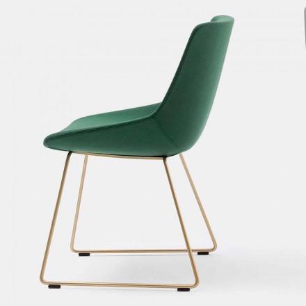 Moderní látková židle se sáňkovou základnou Made in Italy - Artika