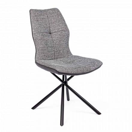 Moderní židle potažená polyesterem a koženkou 4 kusy Homemotion - Plero