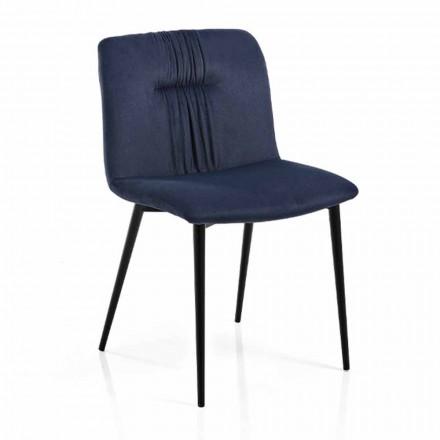 Monokoková židle v barevném provedení a designu z černého kovu, 4 kusy - Florinda