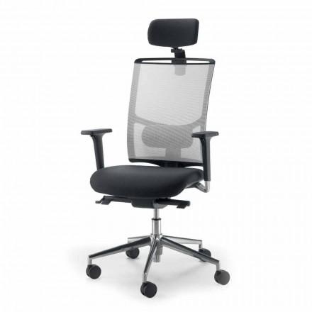 Operační a polopředsedající židle v tkanině vyrobené v Itálii Mina