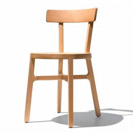 Židle pro kuchyň nebo jídelnu v masivním buku Vyrobeno v Itálii - Cima