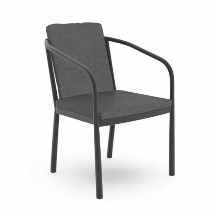 Venkovní židle s područkami z hliníku a tkaniny - Sofy od Talenti