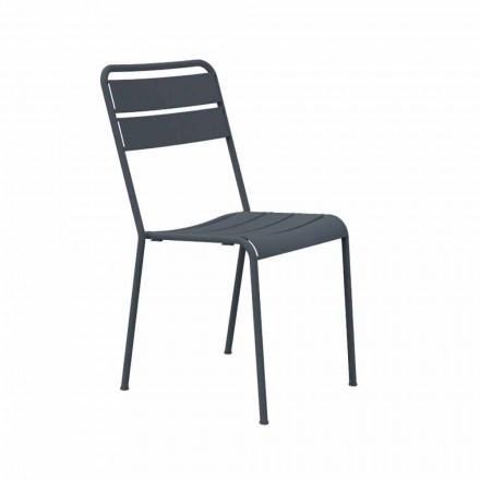 Stohovatelná venkovní židle s práškovým nástřikem Vyrobeno v Itálii, 4 kusy - Amina