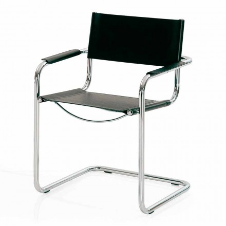 Židle zasedací místnost z černé kůže a kovu - Cirillo