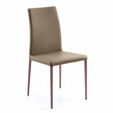 Abbie umělá kožená jídelní židle vyrobená v Itálii