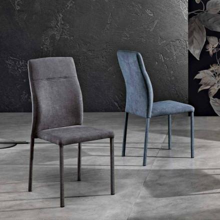 Designová židle v látce pro jídelnu vyrobená v Itálii, Luigina
