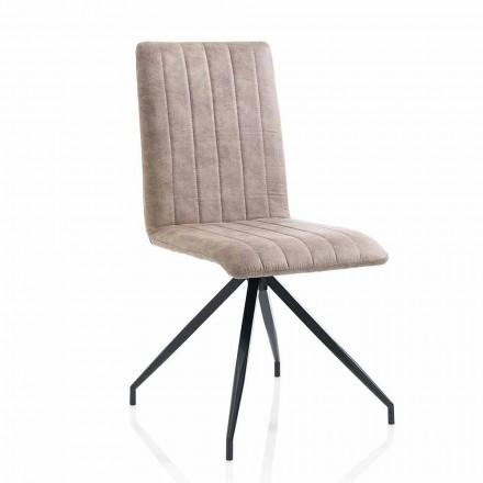 Jídelní židle z imitace kůže ve věku, 2 kusy - Franzi