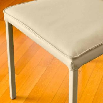Bessie židle-barevné koženka jídelní židle, vyrobené v Itálii