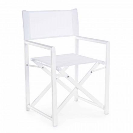 Moderní designová zahradní ředitelská židle z hliníku pro venkovní použití - Cameo