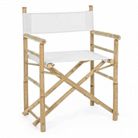 Skládací zahradní venkovní přírodní bambusová židle - Blumele