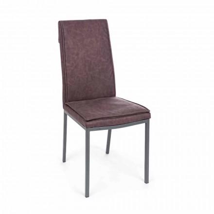 Židle čalouněná koženkou Vintage Effect 4 dílná Homemotion - Irama