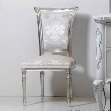 Židle classic ve dřevě se stříbrnými list nohy Miel