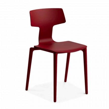 Venkovní stohovatelné židle z polypropylenu Vyrobeno v Itálii, 4 kusy - Claribel