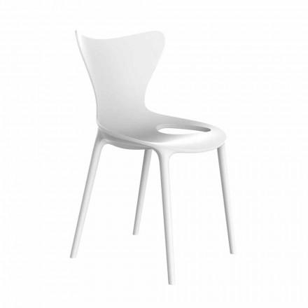 Stohovatelná zahradní židle z polypropylenu, 4 kusy - Love od Vondom