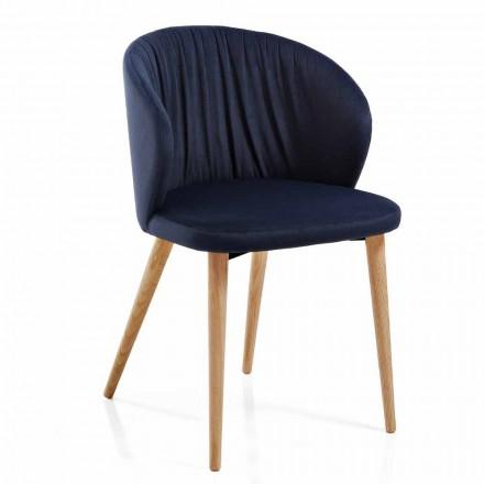 Jídelní židle v látkovém elegantním moderním designu 2 kusy - Reginaldo