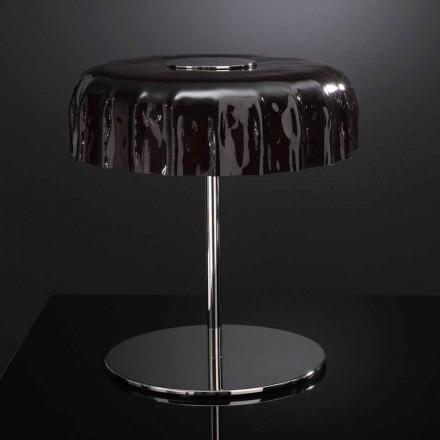 Selene Big Cap stolní lampa sklo Ø40 H 40 cm vyrobeno v Itálii